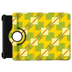 Squares And Stripes 			kindle Fire Hd Flip 360 Case by LalyLauraFLM