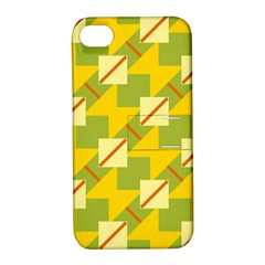 Squares And Stripes 			apple Iphone 4/4s Hardshell Case With Stand by LalyLauraFLM