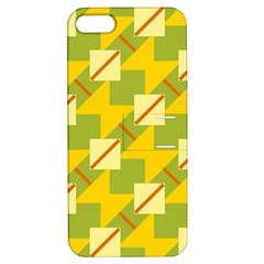 Squares And Stripes 			apple Iphone 5 Hardshell Case With Stand by LalyLauraFLM