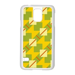 Squares And Stripes samsung Galaxy S5 Case (white) by LalyLauraFLM