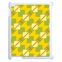 Squares And Stripes 			apple Ipad 2 Case (white) by LalyLauraFLM