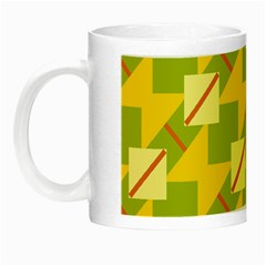 Squares And Stripes Night Luminous Mug by LalyLauraFLM
