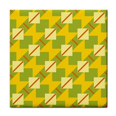 Squares And Stripes 			tile Coaster by LalyLauraFLM