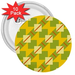Squares and stripes 			3  Button (10 pack) by LalyLauraFLM