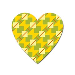 Squares And Stripes magnet (heart) by LalyLauraFLM