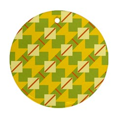 Squares And Stripes 			ornament (round) by LalyLauraFLM