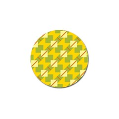 Squares And Stripes golf Ball Marker by LalyLauraFLM