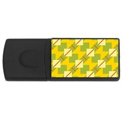 Squares And Stripes usb Flash Drive Rectangular (4 Gb) by LalyLauraFLM