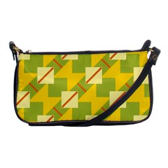 Squares And Stripes 			shoulder Clutch Bag by LalyLauraFLM