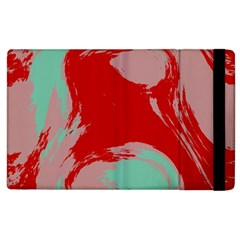 Red Pink Green Texture 			apple Ipad 3/4 Flip Case by LalyLauraFLM
