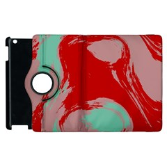 Red Pink Green Texture 			apple Ipad 3/4 Flip 360 Case by LalyLauraFLM