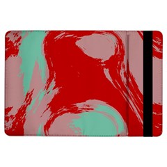 Red Pink Green Texture 			apple Ipad Air Flip Case by LalyLauraFLM