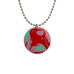 Red Pink Green Texture 			1  Button Necklace by LalyLauraFLM