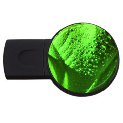 Green And Powerful Usb Flash Drive Round (4 Gb)  by timelessartoncanvas