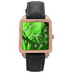 Green And Powerful Rose Gold Watches by timelessartoncanvas