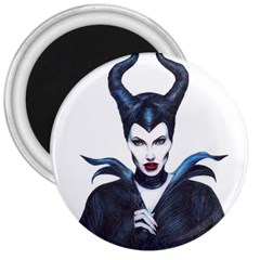 Maleficent Drawing 3  Magnets by KentChua