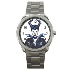 Maleficent Drawing Sport Metal Watches by KentChua
