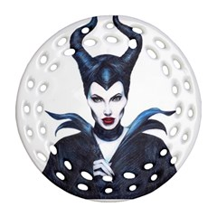 Maleficent Drawing Round Filigree Ornament (2side) by KentChua