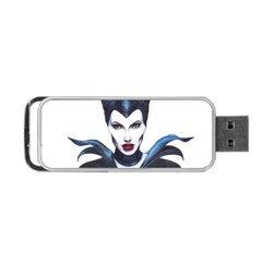 Maleficent Drawing Portable Usb Flash (two Sides) by KentChua
