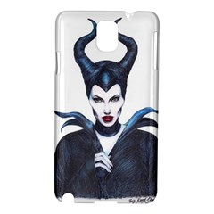 Maleficent Drawing Samsung Galaxy Note 3 N9005 Hardshell Case by KentChua