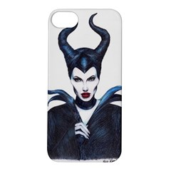 Maleficent Drawing Apple Iphone 5s Hardshell Case by KentChua
