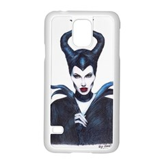 Maleficent Drawing Samsung Galaxy S5 Case (white) by KentChua