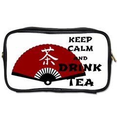 Keep Calm And Drink Tea   Asia Edition Toiletries Bags 2 Side
