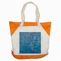 Abstract Waters With Hints Of Pink Accent Tote Bag  by timelessartoncanvas