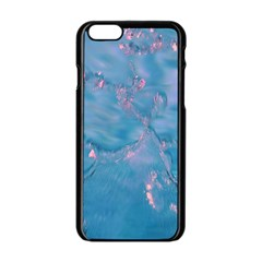 Abstract Waters With Hints Of Pink Apple Iphone 6/6s Black Enamel Case by timelessartoncanvas