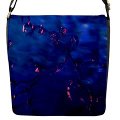 Dark Blue Waters With Hints Of Pink Flap Messenger Bag (s) by timelessartoncanvas