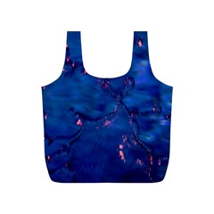 Dark Blue Waters With Hints Of Pink Full Print Recycle Bags (s)  by timelessartoncanvas