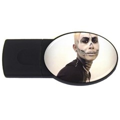 Halloween Skull And Tux  Usb Flash Drive Oval (4 Gb)  by KentChua