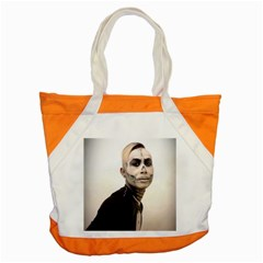 Halloween Skull And Tux  Accent Tote Bag  by KentChua