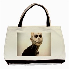 Halloween Skull And Tux  Basic Tote Bag (two Sides)  by KentChua