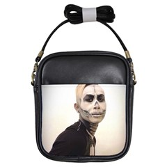 Halloween Skull And Tux  Girls Sling Bags