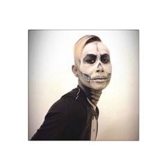 Halloween Skull And Tux  Satin Bandana Scarf by KentChua