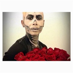 Halloween Skull Tux And Roses  Collage 12  x 18  by KentChua