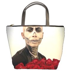 Halloween Skull Tux And Roses  Bucket Bags by KentChua