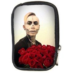 Halloween Skull Tux And Roses  Compact Camera Cases by KentChua