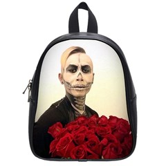 Halloween Skull Tux And Roses  School Bags (small)  by KentChua
