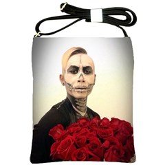 Halloween Skull Tux And Roses  Shoulder Sling Bags by KentChua