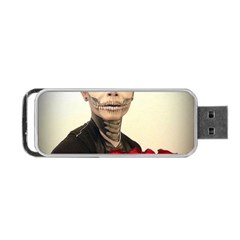 Halloween Skull Tux And Roses  Portable Usb Flash (two Sides) by KentChua