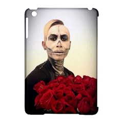 Halloween Skull Tux And Roses  Apple Ipad Mini Hardshell Case (compatible With Smart Cover)