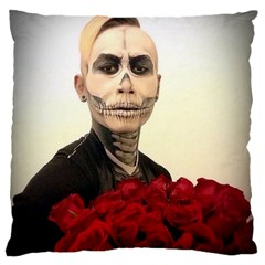 Halloween Skull Tux And Roses  Large Flano Cushion Cases (two Sides)  by KentChua