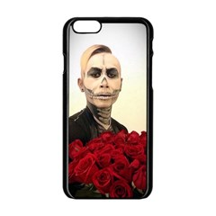Halloween Skull Tux And Roses  Apple Iphone 6/6s Black Enamel Case by KentChua