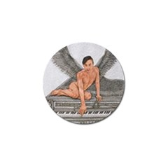 Angel And The Piano Drawing Golf Ball Marker by KentChua