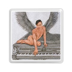 Angel And The Piano Drawing Memory Card Reader (square)  by KentChua