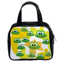 Cute Frog Family Whimsical Classic Handbags (2 Sides) by CircusValleyMall