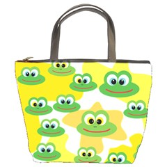 Cute Frog Family Whimsical Bucket Bags by CircusValleyMall