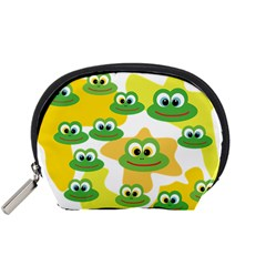 Cute Frog Family Whimsical Accessory Pouches (small)  by CircusValleyMall